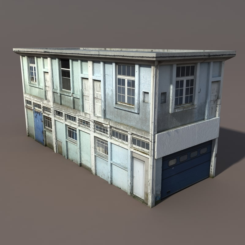 3d building exterior modeled