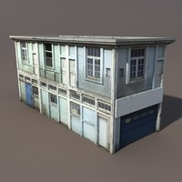 Derelict House Low poly 3d Model