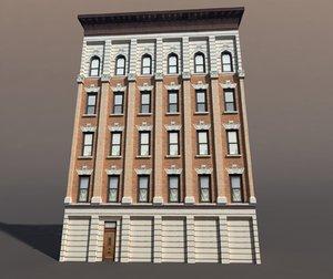 apartment house 3d 3ds