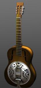 3d dobro guitar instrument