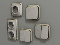 wall plug light switch 3d 3ds