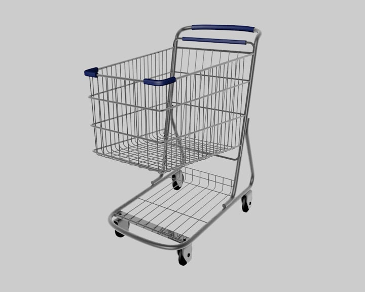 shopping cart c4d