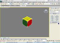 3d model of rubicks cube