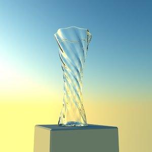 3d model elegant twisted vase
