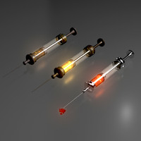 3d model of syringe needle injector