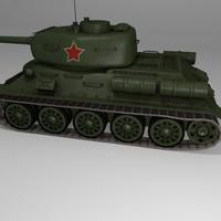 Lowpoly T-34-85
