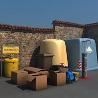 bins boxes 3d c4d