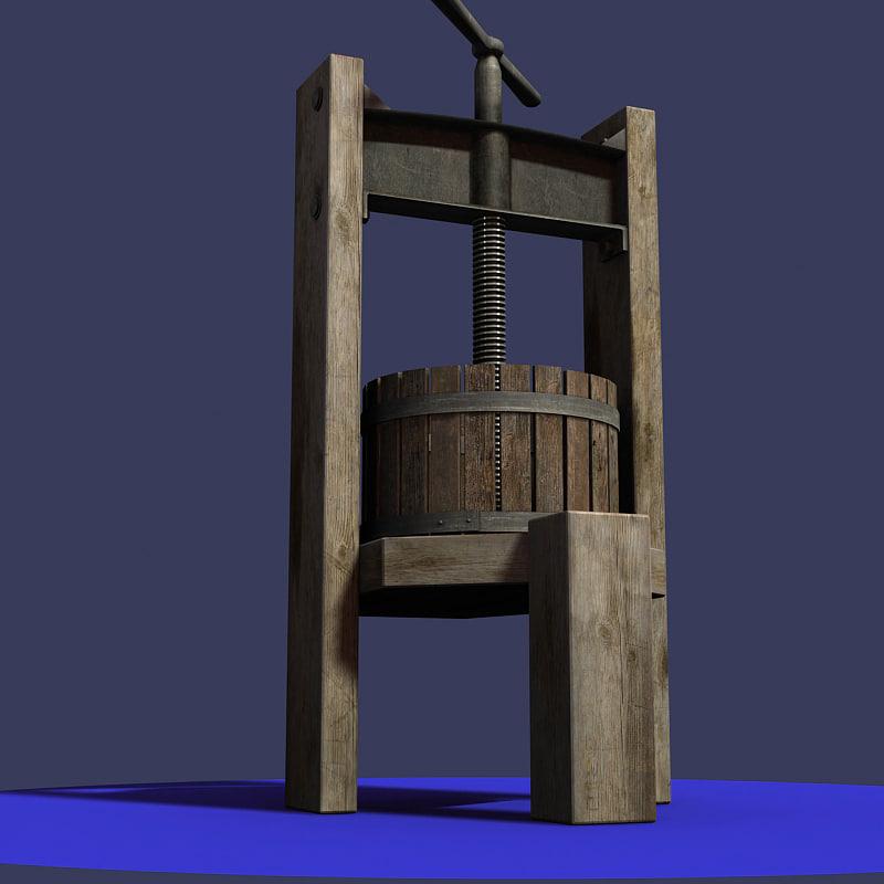 3ds max antique wine press