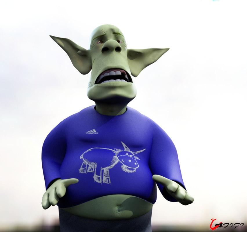 3d alien human man