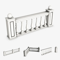 3d model railing module