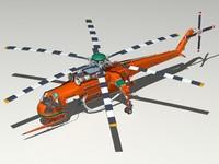 erickson s-64 cockpit 3d model