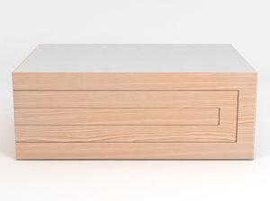 3d rek coffee table model