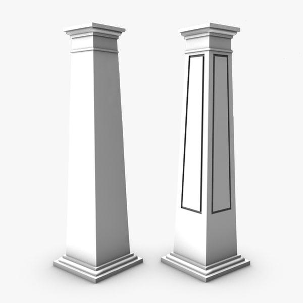 square craftsman columns c4d