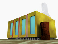 futuristic house 3d obj