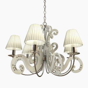 3d model lamp panama lampshade