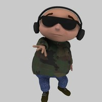 cartoon boy child 3d max