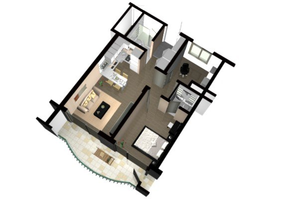 3d floor plan doll house view 04 - 3d Plan House