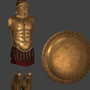 maya greek hoplite armor shield
