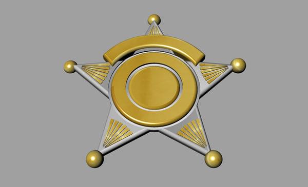 sheriff badge 3d 3dm