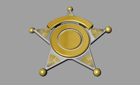 sheriff badge 3d 3dm