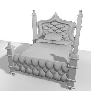 3d model double bed