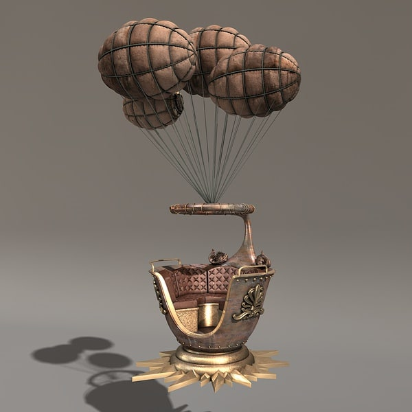 c4d airship