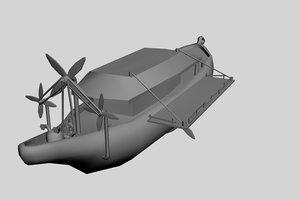 3d model asian airship