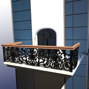 3d ferforje balcony