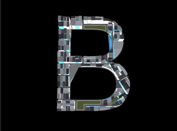 3d town b model