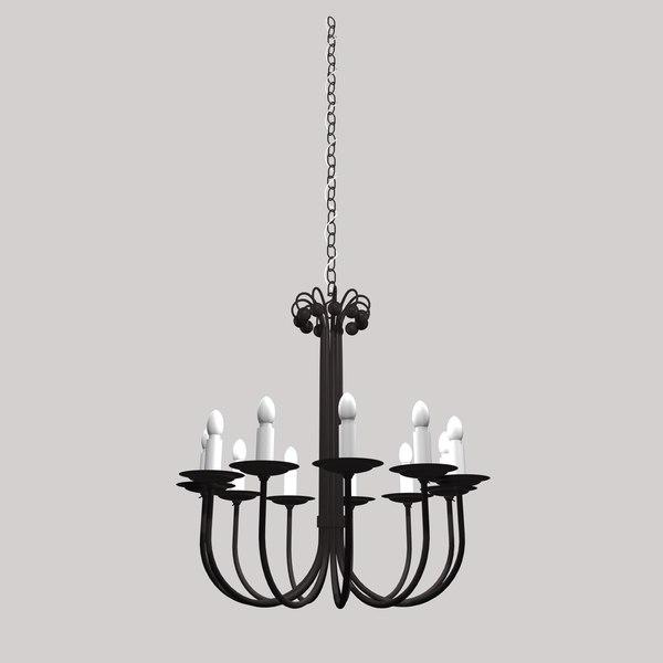 gothic lamp light 3d 3ds