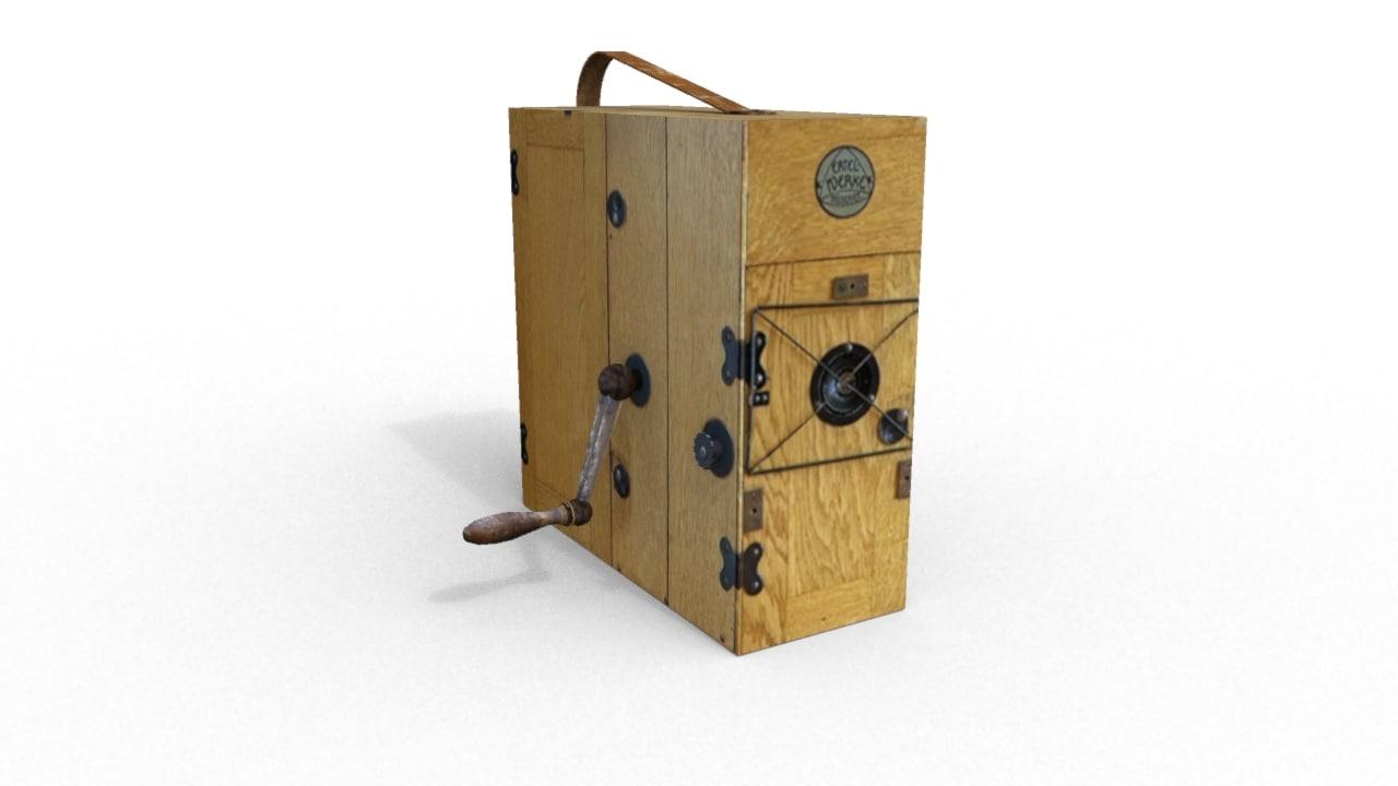old fashion camera 3d model