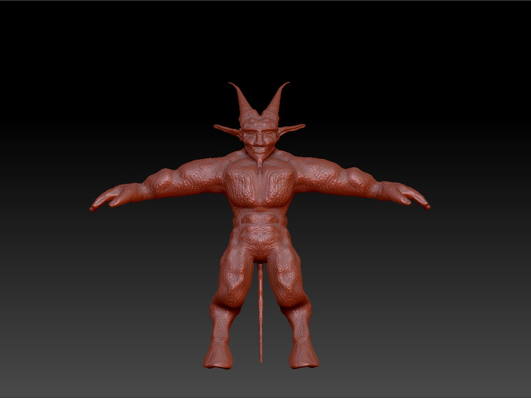 demon zbrush obj