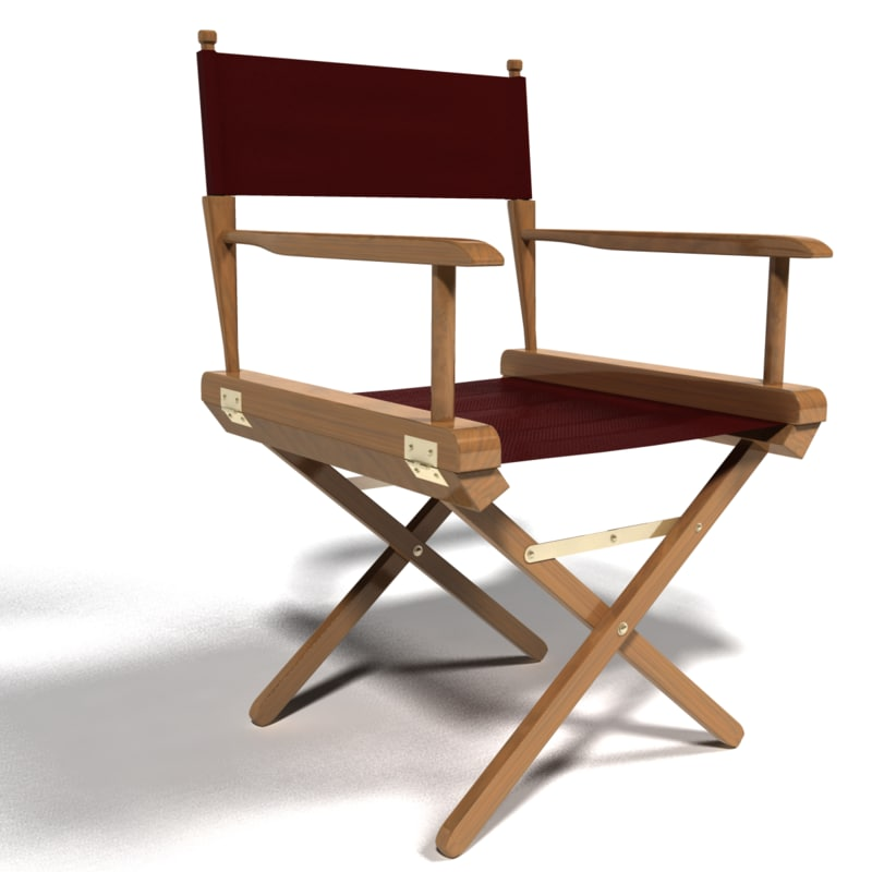 Directors chair png - Directors Chair 3d Model