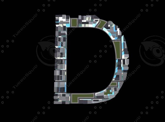 3d model town d