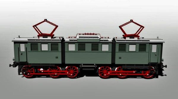 3d model german engine cargo