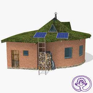 3d model clay ecohouse