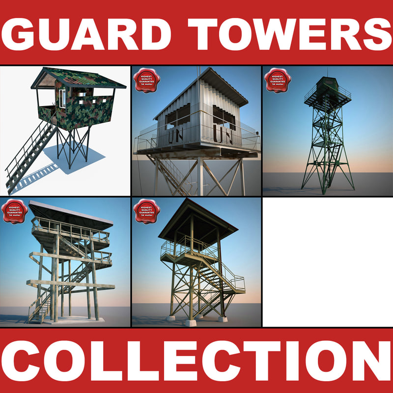 3d guard towers v2 model