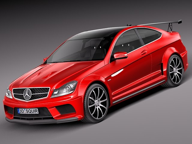3d model of mercedes benz c63 amg