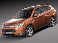 mitsubishi outlander 2013 suv 3d model