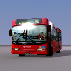 3d model single london red bus