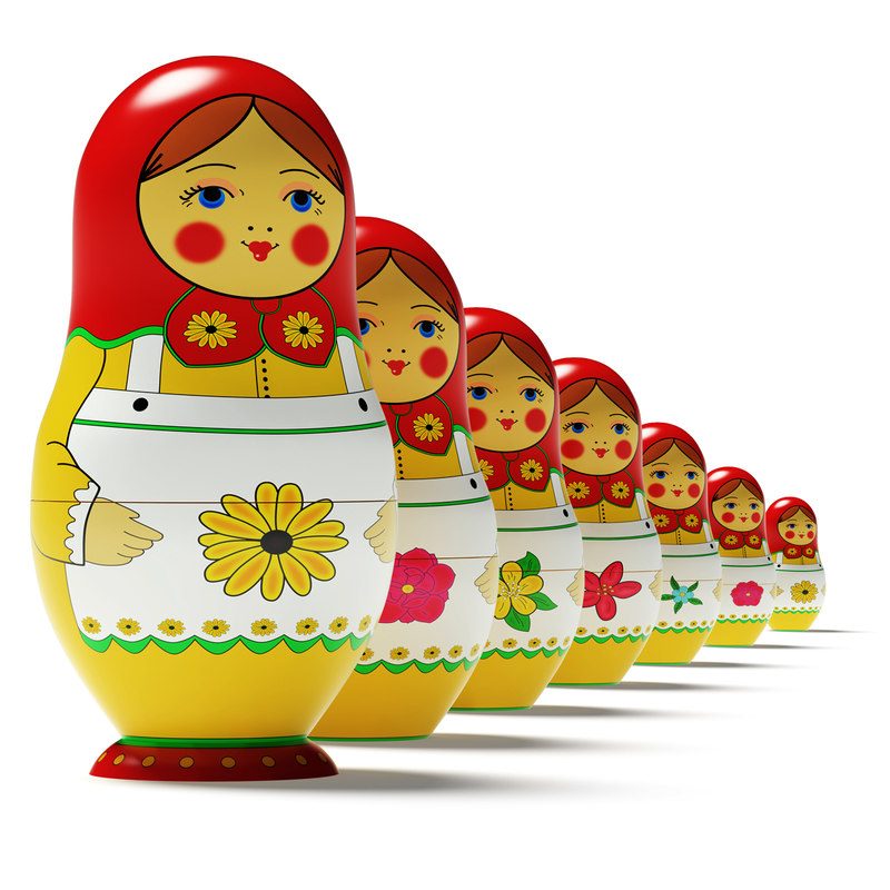 3d model russian doll