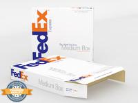 3dsmax fedex express box