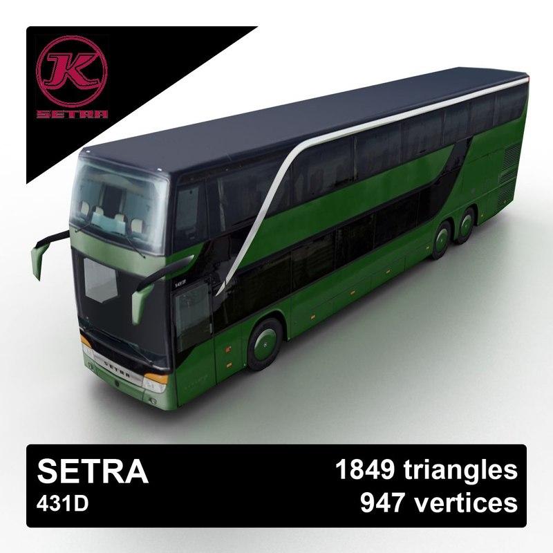 setra 431d bus 3d model