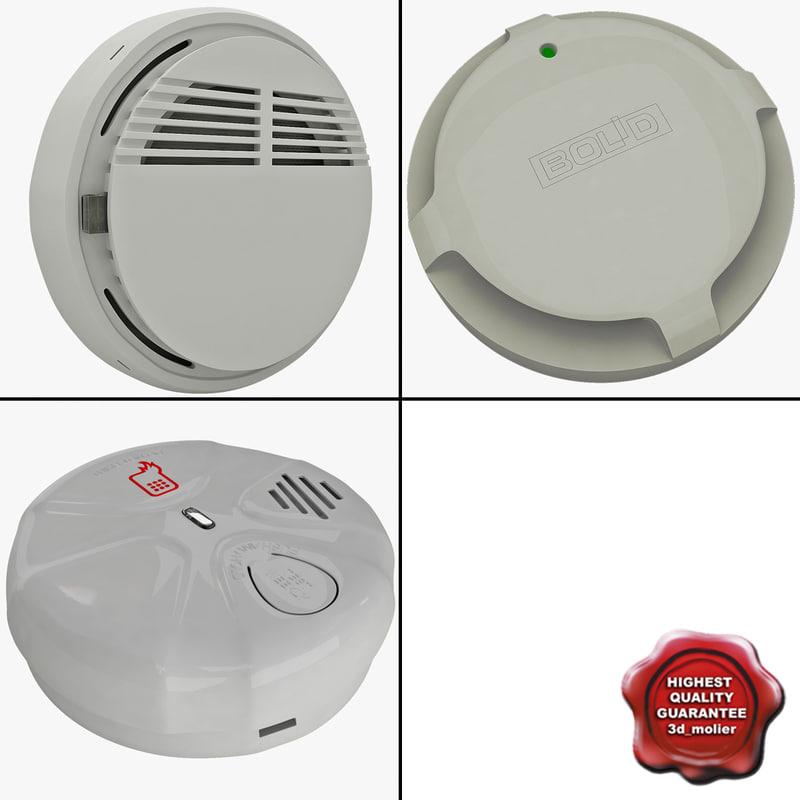 3ds max smoke detectors