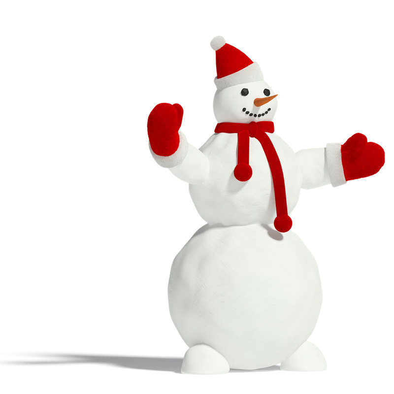 maya snowman snow