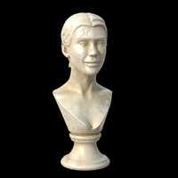 3d model marble woman
