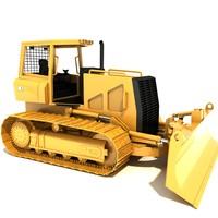 3d bulldozer dozer model