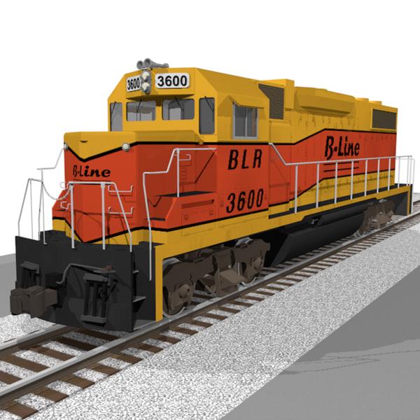 train engine c4d
