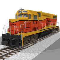 Train Engine / Locomotive: EMD GP38: C4D Format