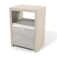 Turri T792L leather bedside table